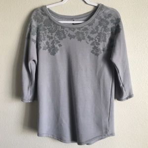 Aerie grey floral sweatshirt. Size small.